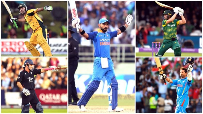 Virat Kohli Batting Records List: Indian Captain Surpasses Sachin Tendulkar, AB De Villiers, Ricky Ponting & Others With His 157-Run Innings vs West Indies