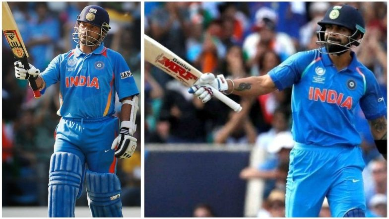 Virat Kohli Becomes Fastest Batsman to Score 10,000 ODI Runs; Breaks Sachin Tendulkar's Record; Joins Sourav Ganguly, Rahul Dravid, and MS Dhoni in the Elite List!