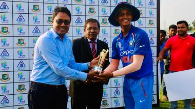 Yashasvi Jaiswal, Under-19 Asia Cup 2018 Player of The Series, Sold Panipuri For a Living!