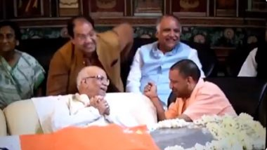 Yogi Adityanath, 2 Other UP Ministers Caught on Video 'Laughing' at ND Tiwari's Funeral; Opposition Calls it 'Real Character of BJP'