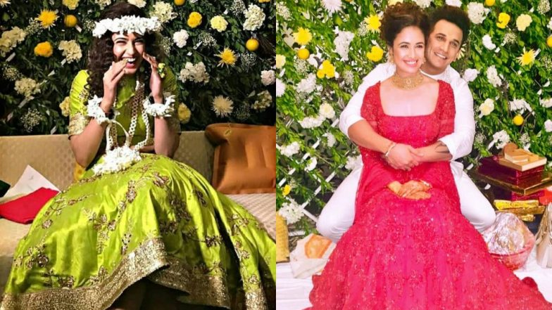 Yuvika Chaudhary Looks Like A Total Doll In Her Engagement And Mehendi Function With Prince Narula - View Pics!