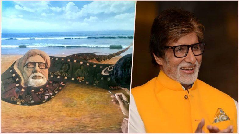 Amitabh Bachchan Celebrates 76th Birthday: Artist Sudarsan Pattnaik Beautiful Sand Art is a Perfect Birthday Gift for BigB