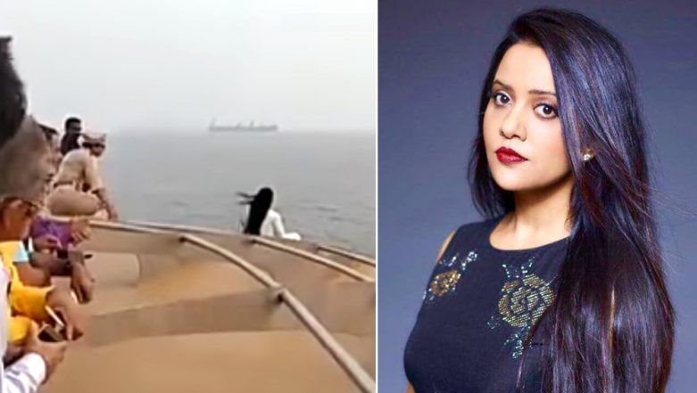 Amruta Fadnavis Apologises After Video of Her Risky Selfie Stunt on Angriya Cruise Went Viral, Urges Youths Not to Imitate Her