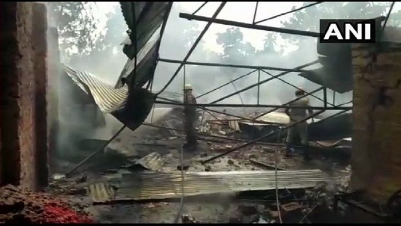 West Bengal: Fire Breaks Out at Firecracker Factory in South 24 Parganas, 10 Injured