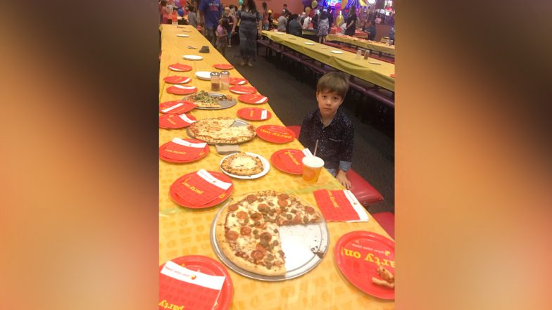 Heartbreaking Photo of Six-Year-Old Birthday Boy Sitting Alone at His Pizza Party Goes Viral!