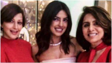 Sonali Bendre and Neetu Kapoor Pose With Priyanka Chopra at Her Bridal Shower – View Pic