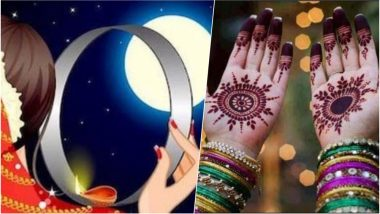 Karwa Chauth 2018 Mehndi Design Ideas: Beautiful Traditional Henna Patterns to Apply on this Auspicious Festival
