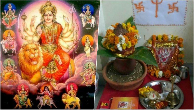 Navratri 2018 Puja Vidhi: Ghatasthapana Shubh Muhurat, Puja Items Required, Simple Puja Rituals in Hindi to Perform Navaratri Festival at Home