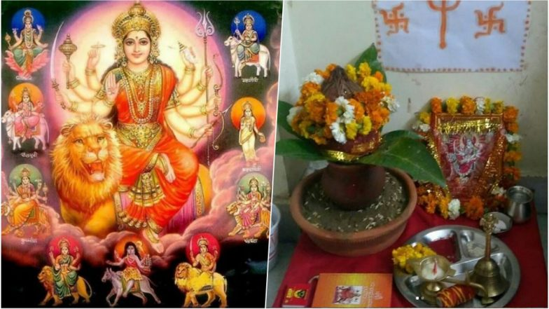 Navratri 2018 Puja Vidhi: Ghatasthapana Shubh Muhurat, Puja Items Required, Simple Puja Rituals in Hindi to Perform Navaratri Festival at Home