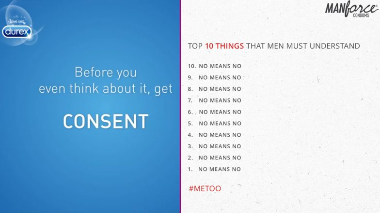 #MeToo in India: Durex & Manforce Condoms Tell Us Importance of CONSENT in Their Latest Social Media Creatives
