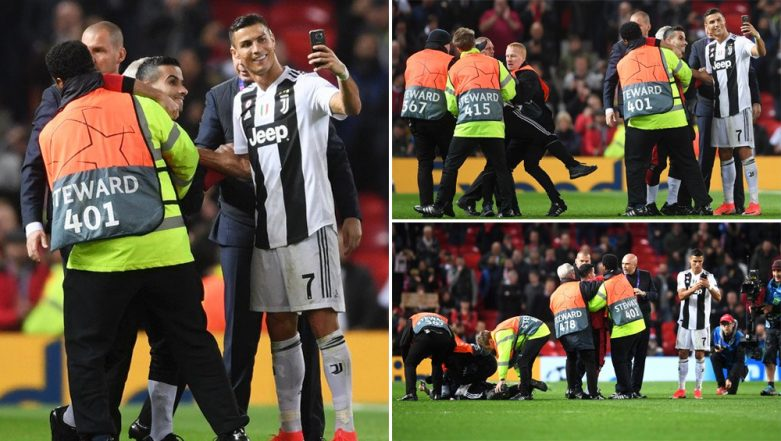 Cristiano Ronaldo Takes a Selfie With Pitch Invader During Manchester United vs Juventus Game (See Pics and Video)