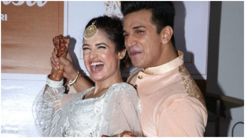 Prince Narula and Yuvika Chaudhary Make Their First Official Appearance as a Married Couple and Our Hearts Are Doing Garba – View Pic