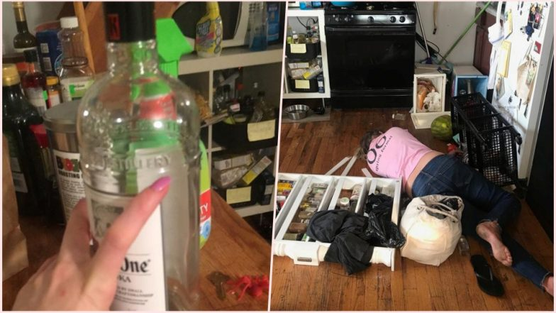 Drunk Maid Passes Out Again on Kitchen Floor! Thankfully, She Wasn't Naked This Time (View Pics)