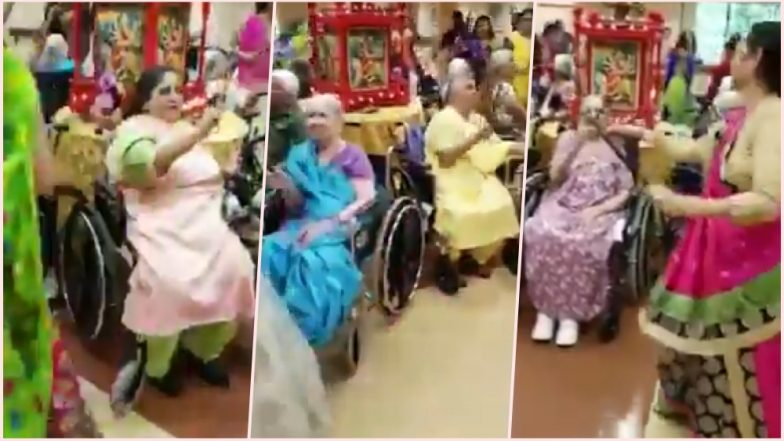 Video of Special Dandiya Dance Featuring Elderly Woman Sitting on Wheelchair Will Warm Your Hearts This Navratri 2018