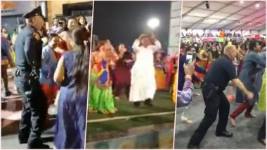 Garba Fever! Christian Priest From Mumbai and Policemen From New York Can't Resist Shaking a Leg to the Garba Tune