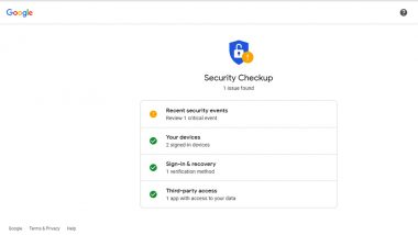 October Is Cybersecurity Awareness Month! Know How to Check If Your Data Is Safe Online Through Google Security Checkup