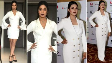 Hina Khan and Divyanka Tripathi Slay in Similar White Blazer Dress; Who Wore It Better?