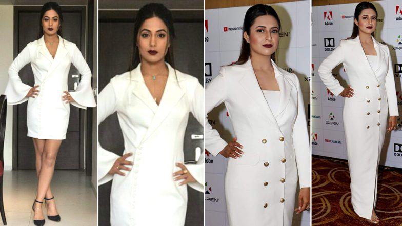 Hina Khan and Divyanka Tripathi Slay in Similar White Blazer Dress; Who Wore It Better?