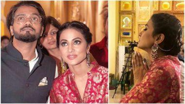 Kasautii Zindagii Actress Hina Khan Visits Kolkata With Beau Rocky Jaiswal to Seek Blessings From Maa Durga - View Pics