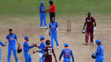 IND vs WI 1st ODI 2019 Match Report & Result: Game Called off Due to Rain After 13 Overs of Play
