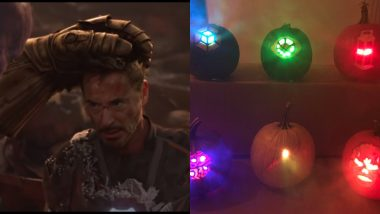 [Picture] Is That Iron Man With Six Infinity Stones or Just Robert Downey Jr's Halloween Decoration?
