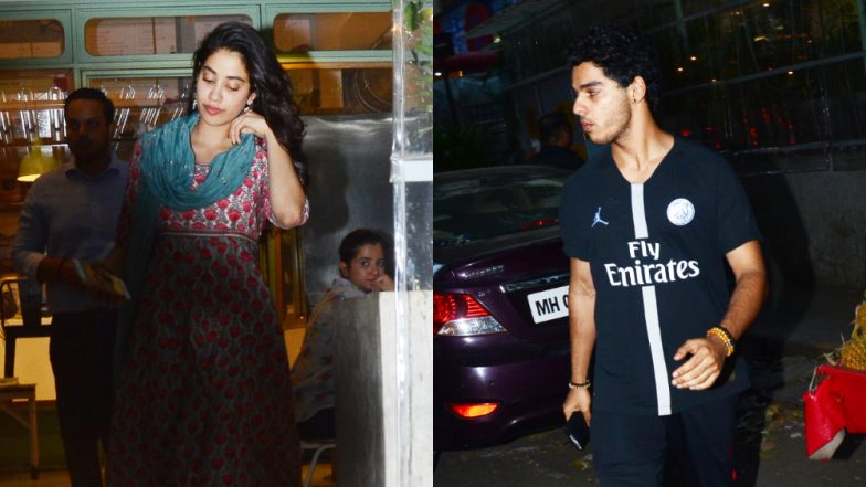 Janhvi Kapoor and Ishaan Khatter's Dinner Date Pictures Are Going Viral