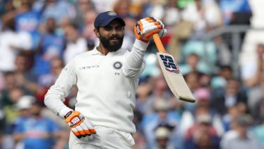Ravindra Jadeja Hits 14th Half-Century During India vs Bangladesh 1st Test 2019, Brings Out His Popular Sword Celebration