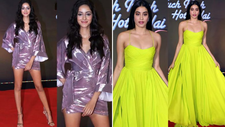 Janhvi Kapoor's Floor-Length Gown or Ananya Panday's Mini Dress – Whose Outing Matches Your Style?