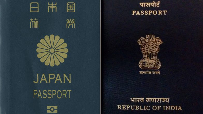 Japanese Passport Named World's Most Powerful, Indian Passport Ranks 81 in the Henley Passport Index