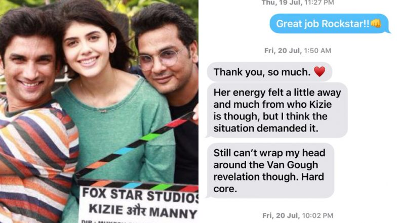 Sushant Singh Rajput Shares Screenshots of Chats With Sanjana Sanghi After Reports of His Misconduct Surface