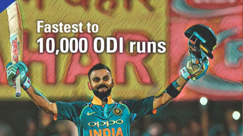 'Name Virat Kohli's Biopic 10,000 BC' Twitterati React As Indian Captain Becomes Fastest to 10k Runs in ODIs