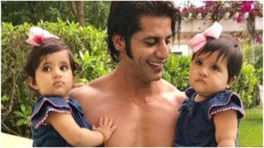Bigg Boss 12 Contestant Karanvir Bohra With Twin Daughters in This Pic Will Make Your Day a Happy One