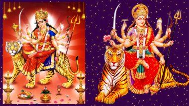 Navratri 2018 Images & Maa Durga HD Photos for Free Download Online: Happy Navaratri Wallpapers in 1080p & Navadurga GIFs for WhatsApp Greetings