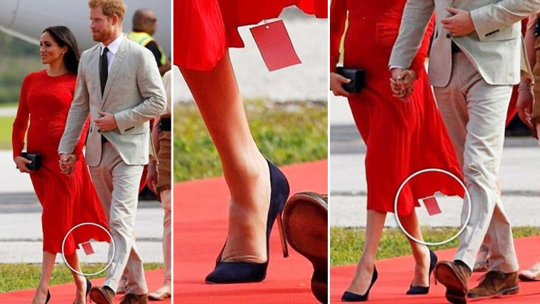 Meghan Markle's Royal Faux Pas! The Duchess of Sussex Forgets to Remove the Price Tag of Her Dress