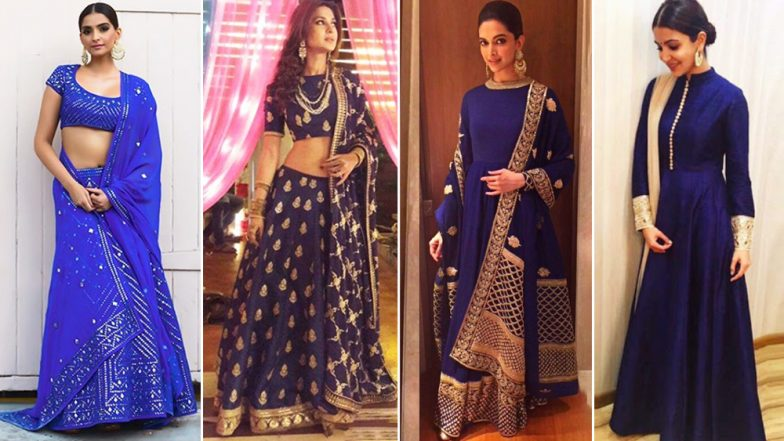 Navratri 2018 Day 1 Colour, October 10 – Royal Blue: Deepika Padukone, Jennifer Winget, Sonam Kapoor Show How to Dress Up for the Festive Season