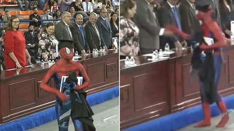 Mexican Law Student Dresses Up As Spider-Man for Graduation Ceremony: Watch Viral Video