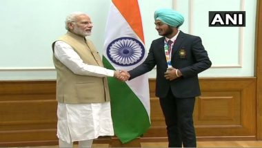 Narendra Modi, Rajyavardhan Rathore Felicitate Medal winners of Youth Olympic Games 2018