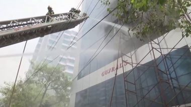 Mumbai Fire: Blaze Engulfs Gujral House Building in Kalina of Santacruz, Firefighting Underway