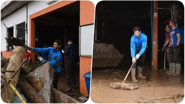 Rafael Nadal's Cleaning Gesture After Floods in Majorca Floors Twitterati, See Pics