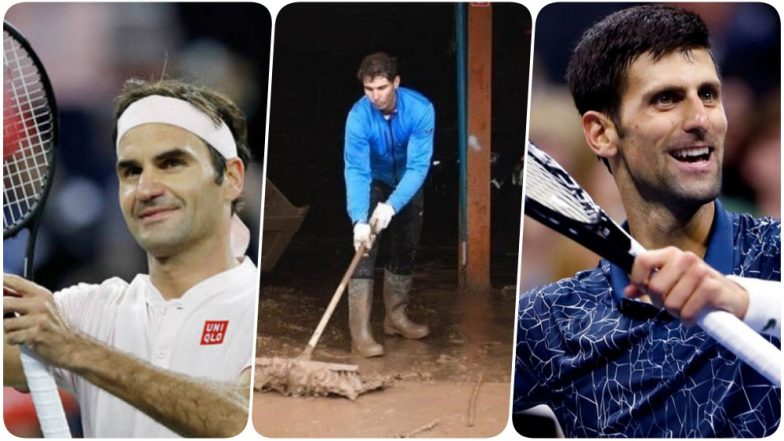 Roger Federer & Novak Djokovic Hail Rafael Nadal for his Participation in Cleaning up Majorca Post Flood! (Watch Video)