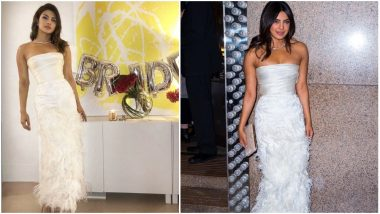Priyanka Chopra's Pre-Wedding Celebrations Are On in Full Swing; Actress Picks an Off-Shoulder White Gown for Her Bridal Shower