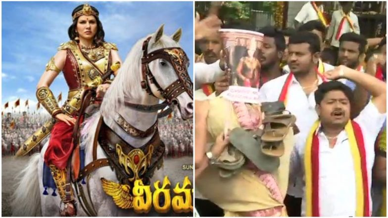 Sunny Leone Faces Protests Again in Karnataka For Playing the Lead in Veeramadevi