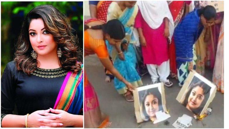 Nana Patekar Finds Some Support in Farmer Widows As They Burn Down Tanushree Dutta's Posters