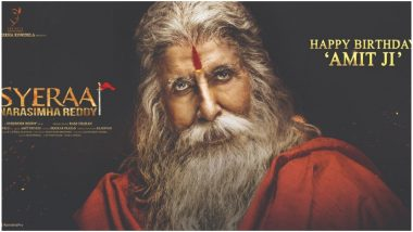 Amitabh Bachchan's Look from Chiranjeevi's Sye Raa Narasimha Reddy Revealed on His Birthday - Watch Video