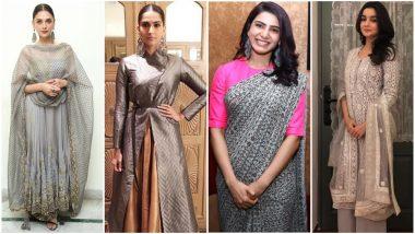 Navratri 2018 Day 4 Colour, October 13 – Grey: Let Alia Bhatt, Samantha Ruth Prabhu and Sonam Kapoor Teach You How to Slay in This Colour