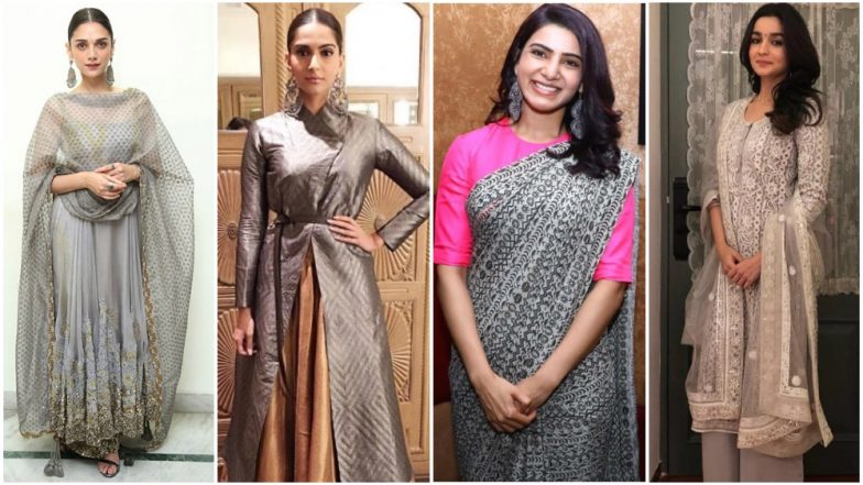 Navratri 2018 Day 4 Colour, October 13 – Grey: Let Alia Bhatt, Samantha Ruth Prabhu and Sonam Kapoor Teach You How to Slay in This Colour