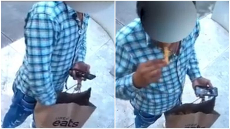 Uber Eats Delivery Driver Bites Into Customer's French Fries; Video Goes Viral