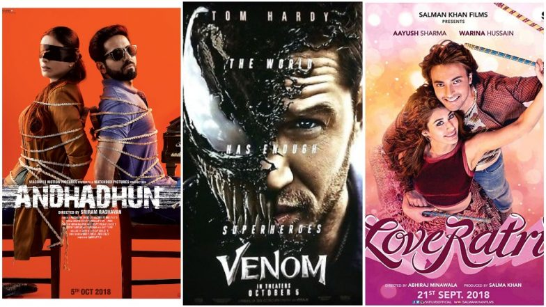 Ayushmann Khurrana's AndhaDhun, Aayush Sharma's LoveYatri, Tom Hardy's Venom - Which Movie This Week Excites You The Most? Vote Now