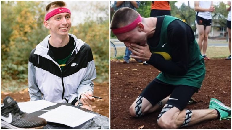 Nike Signs Justin Gallegos, First Runner With Cerebral Palsy; His Reaction Will Bring a Lump in Your Throat (Watch Video)