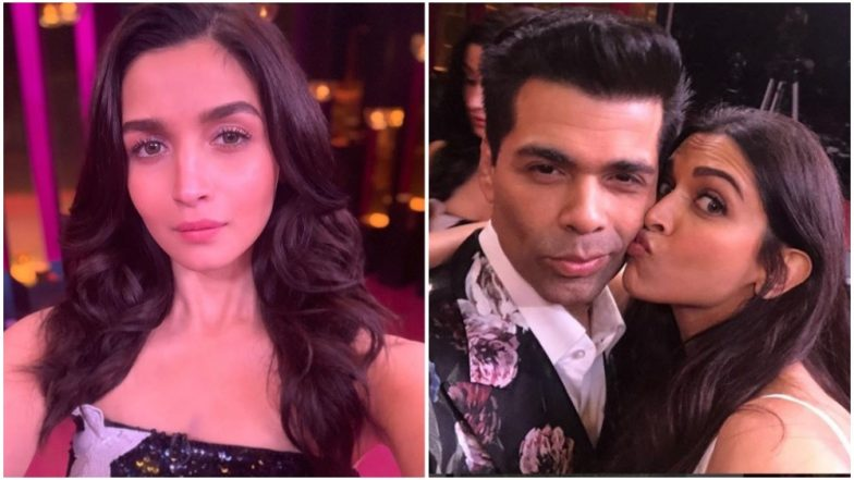 Koffee With Karan 6: Alia Bhatt and Deepika Padukone Conveniently Click 'Solo' Pictures on the Show's Set and We Wonder Why